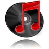 iTunes black'n'red icon by zach-ska