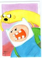 It's Time for Adventure Sketch Card by johnnyism