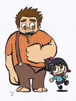 Ralph and Vanellope by LeniProduction