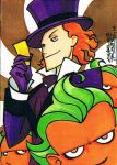 Willy Wonka sketch card by KidNotorious