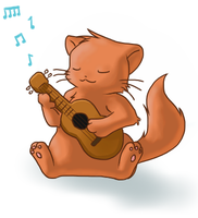 Guitar Kitty by Mewitti