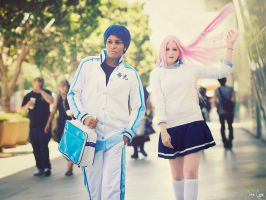 Daiki Aomine and Satsuki Momoi Cosplay 1 by SNTP