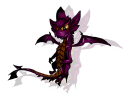 Malefor-Young Purple Beast by ToxicKittyCat