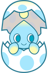 Hatching Chao by ZGravityWolf