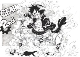 Luffy: Gear Second by Jigmetenzin