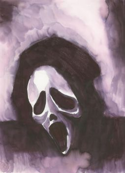 Ghostface ink wash version by oluklu