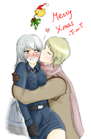 Merry Christmas Eve RusPrus by teh-muffin-thing