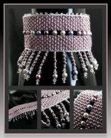 Sweet candy bead loomed cuff by CatsWire