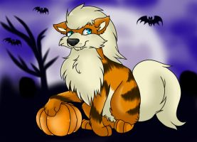 Happy Halloween Arcanine by Kneel4Loki13