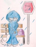 .:Sitting By The Rain:. by CaramelCreampuff