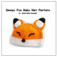 Sleepy Fox Baby Hat Pattern by adorablykawaii