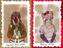 1940's Badges -- Hawker-Blue + Emmy by Geistlicher