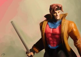Gambit Digital ActionFigure by adr-ben