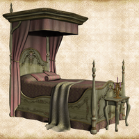 Pink Canopy Bed by Just-A-Little-Knotty