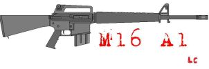MS Paint: M16 A1 by ZEECAPTEIN