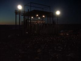 The gorge Ampitheatre night by 0g0p0g0