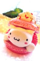 Raspberry Cat Macaron by The-little-me