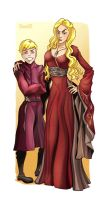 Cersei and Prince Joff by DLouiseART