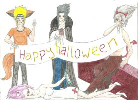 Team 7 Halloween by Kapu-chan
