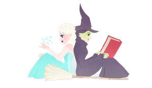 Elsa and Elphaba - V2 by Kc-Eazyworld