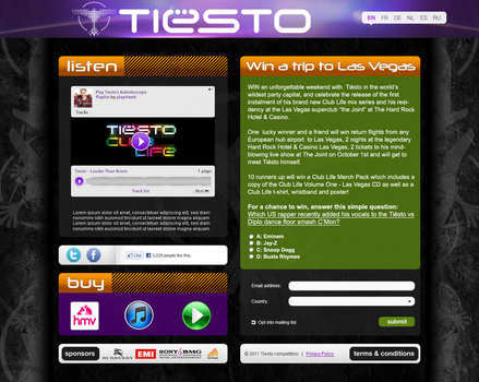 Tiesto competition page by Kopessius