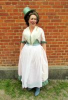 Pink and green 18th century outfit by Isiswardrobe