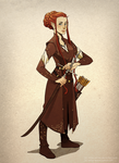 Tauriel - concept art outfit by Akita-sensei