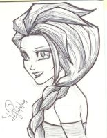 Queen Elsa Small Sketch by emceelokey