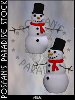 Snowman 016 by poserfan-stock