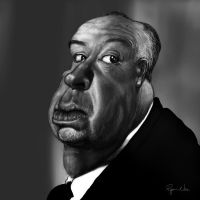 Alfred Hitchcock by RyanNore