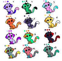 Cat Adoptables! 3pts each or draw-to-adopt! by DailyAdoptables
