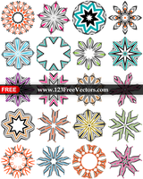Abstract Vector Decorative Design Elements Color by 123freevectors