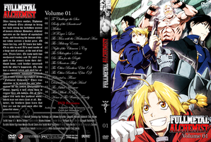 Fullmetal Alchemist DVD cover by cromossomae