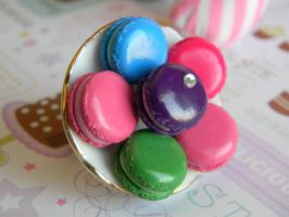 Macaroon Platter Ring by ThePetiteShop