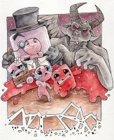 Isaac And Meat Boy by Lumary92