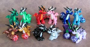 Mini Dice Dragon Couples by DragonsAndBeasties