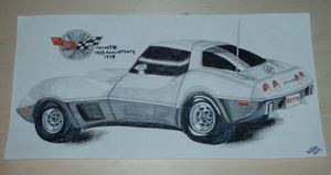 78 Silver Anniversary Corvette by PunkIn-Kitty
