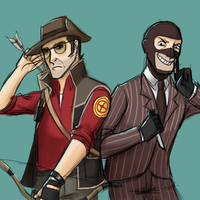 TF2- Snipah and Spoi by kakaleng1
