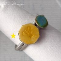 Honey Bee Enamel Stacking Ring by che4u