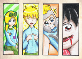 SP: The faces of Butters by Freaky-chan