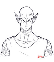 piccolo bust sketch. by DoubleChocolateChip