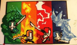 Perler - Castle Crashers by JaysinO