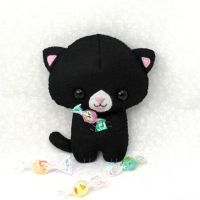 Candy Cat Plushie by TeacupLion