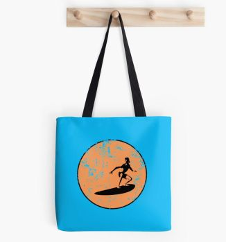 Surfing Tote Bag by Azza-Ku