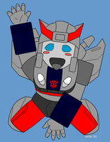 chibi bluestreak - color by AosakiKeiko