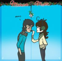 Grant and Me Mistletoe meme by Ask-ManyMask
