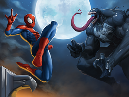 Spider-Man VS Venom! by GenghisKwan