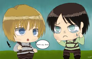 Don't Cry (Chibi Attack on Titan) by MellodyDoll