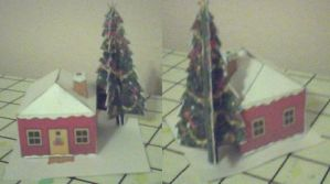 xmas house papercraft by ganon-destroyer