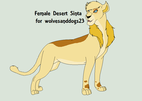 Female Desert Sinta for wolvesanddogs23 by Cece-Edgars-Sister